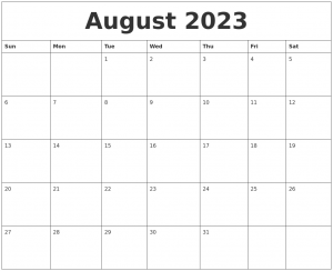 schedule template pdf august blank schedule template