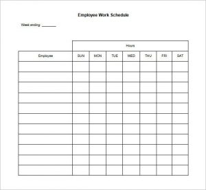 schedule template word blank work schedule template free word excel documents within employee work schedule template