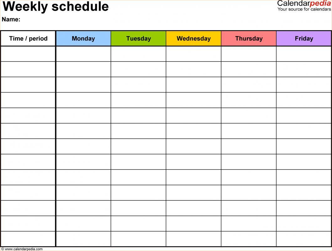 schedule templates word