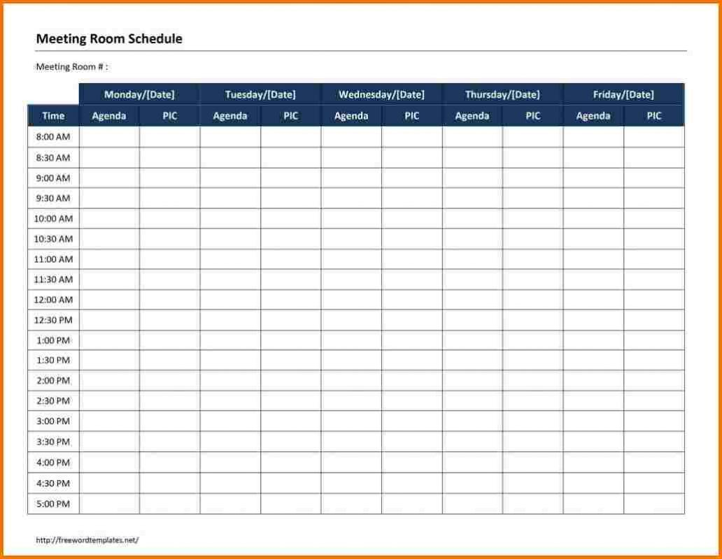 Schedule Templates Word | Template Business