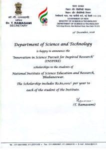 scholar letter sample csir niser