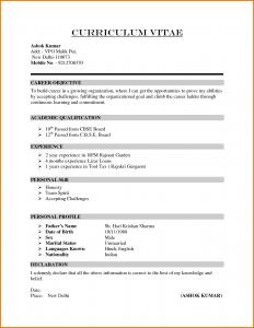 scholarship application letter formal cv format sample