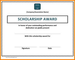 scholarship certificate - Ecza.solinf.co