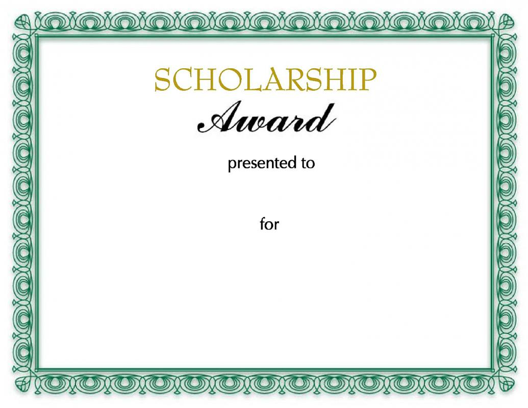scholarship certificates templates template business. Black Bedroom Furniture Sets. Home Design Ideas