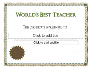 scholarship certificates templates world s best teacher award certificate