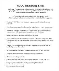 scholarship essay format nccc scholarship essay format