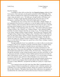 essay formats examples