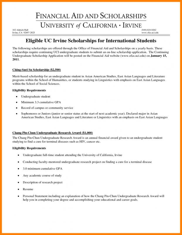 Scholarship Essays Examples | Template Business