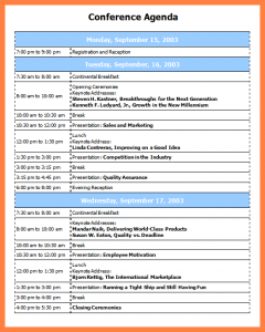 scholarship letter format conference program templates conference agenda template
