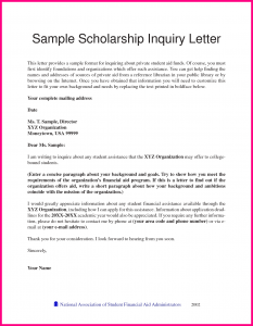 scholarship letter sample recommendation for student scholarship