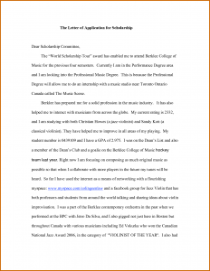 scholarship letters sample how to write application for scholarship