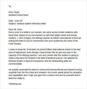 scholarship letters sample sample medical student reference letter