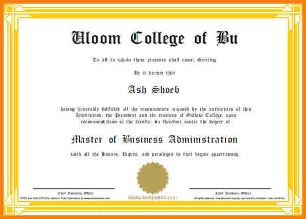 Scholarships Certificate Template  Template Business