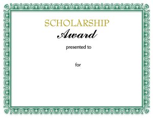 scholarships letters examples scholarship certificate template
