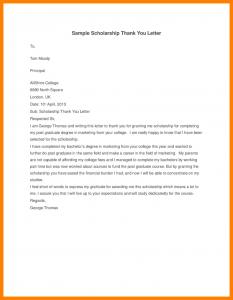 scholarships thank you letter sample scholarship thank you letter examples sample scholarship thank you letter