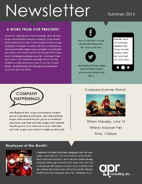 School Newsletter Templates Free Template Business