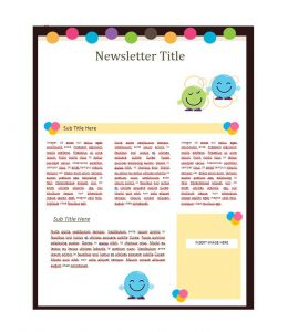 school newsletter templates newsletter template