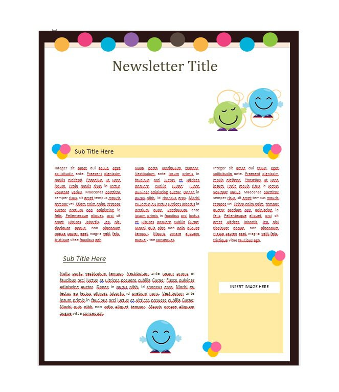 School Newsletter Templates  Template Business