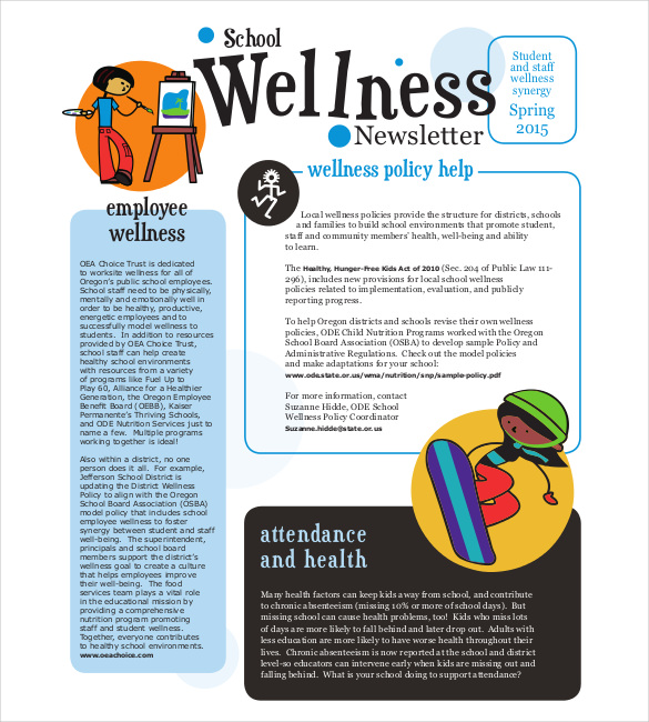 school newsletter templates template business. Black Bedroom Furniture Sets. Home Design Ideas