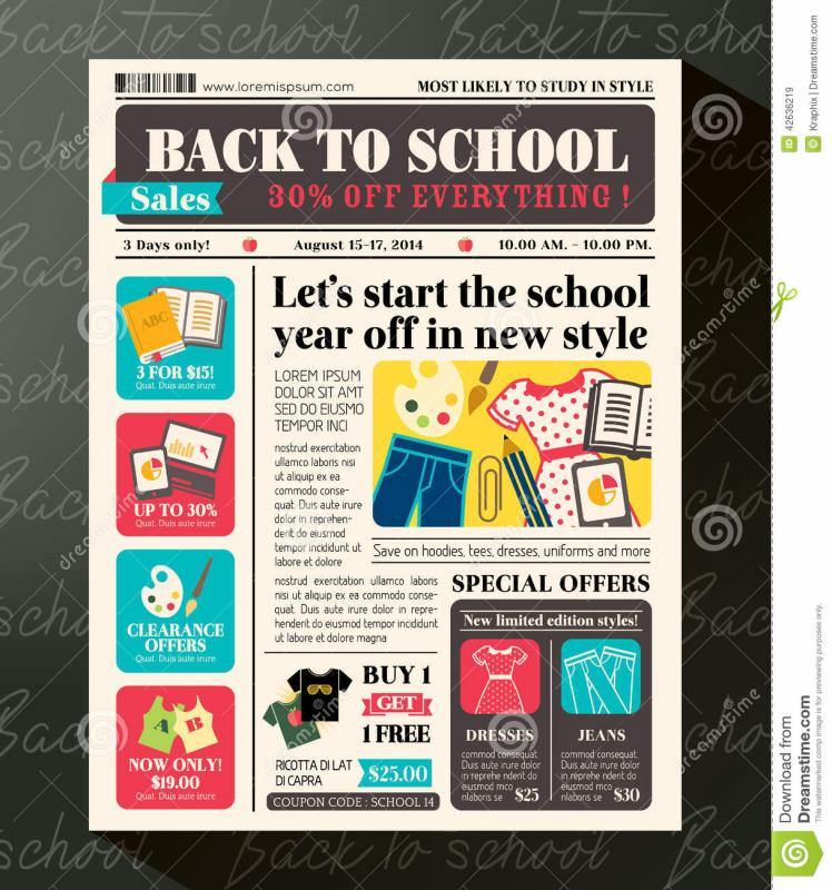 School Newspaper Template  Template Business