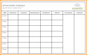 school schedule template school schedule templates after school schedule web image