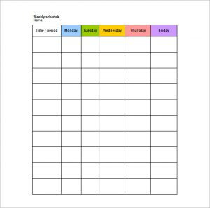 school scheduling template school weekly schedule template in word format