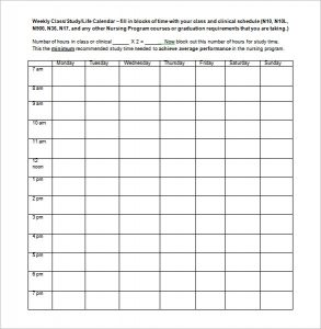 school scheduling template weekly school schedule template blank in word format
