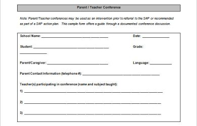 school scheduling templates free download parent teacher conference schedule template