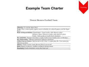 scope of work example team building