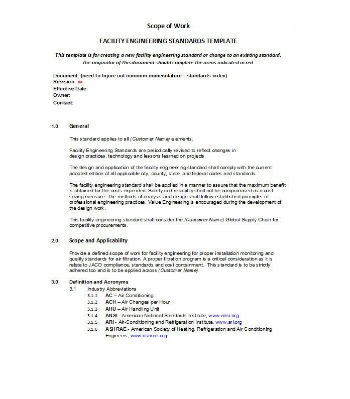 scope of work template