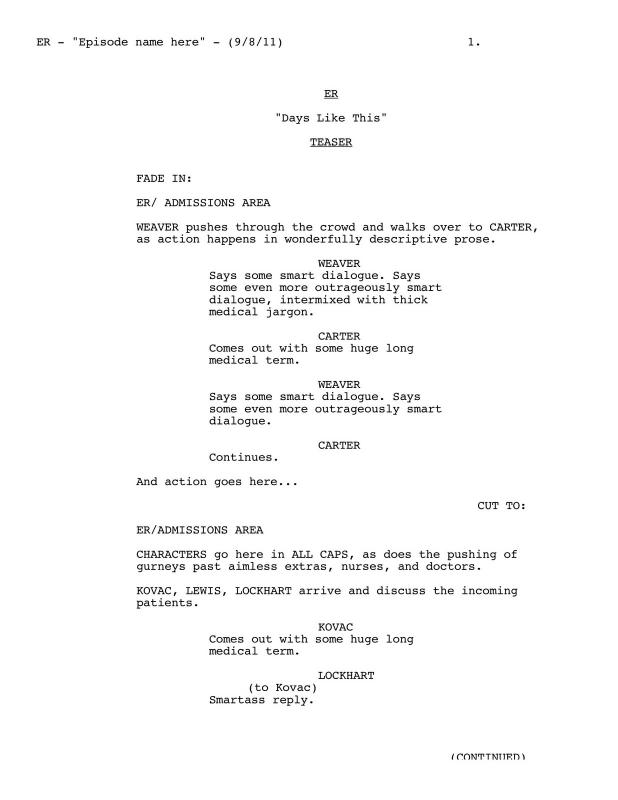 Screenplay Format Template | Template Business