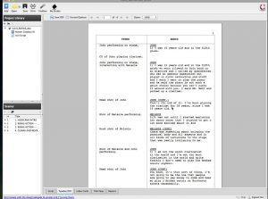 script format template x