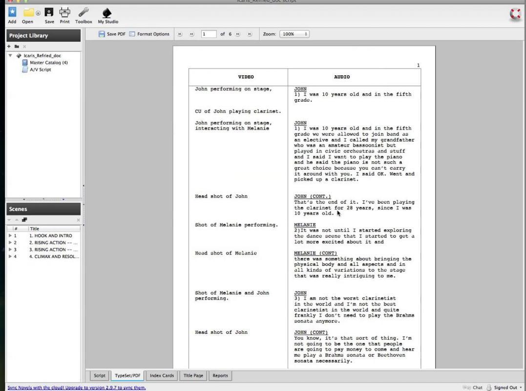 script format template