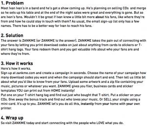 script format template screen shot at pm