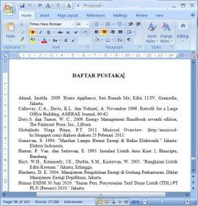 script format word dpustaka