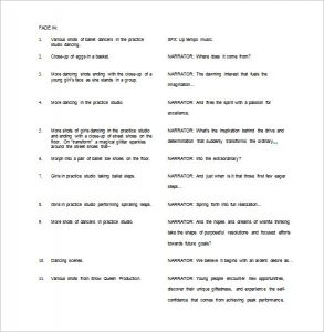 script outline example video script outline template free word doc
