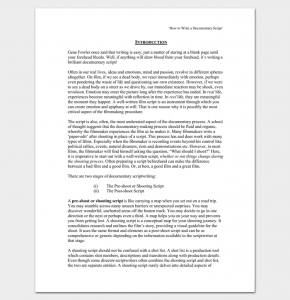script writing format pdf how to write a documentary script outline