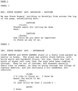 script writing template fd script