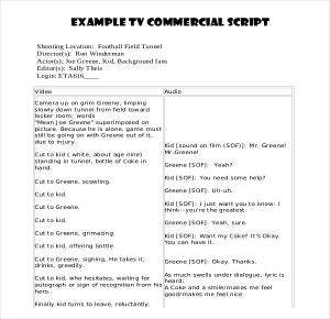 script writing template pdf format commercial script writing template download for free