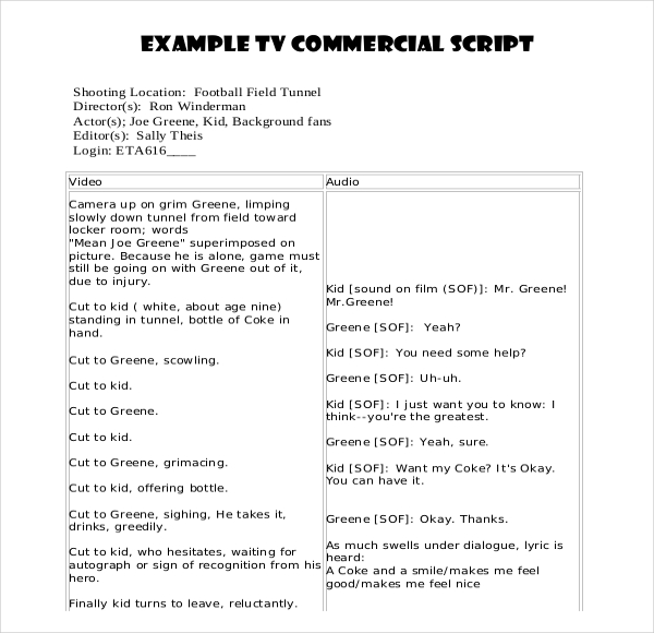 Script Writing Template | Template Business