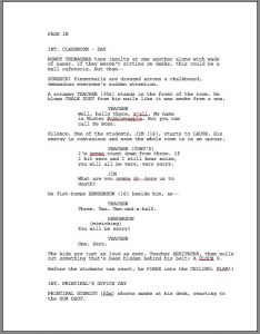 script writing template screenplay template