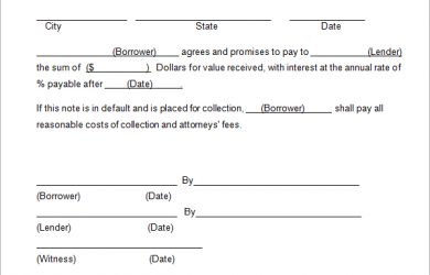 secured promissory note template simple promissory note