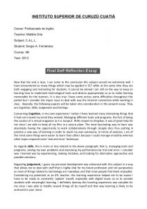 self reflection essay callfinal selfreflection essay