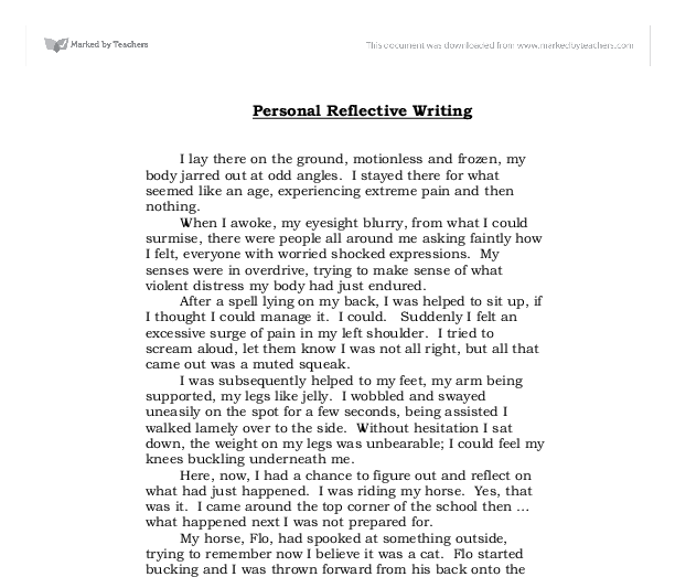 self reflection essay sample write a reflection essay sample self