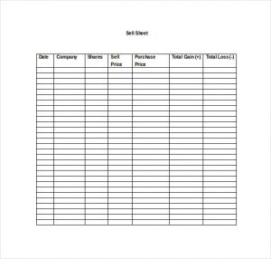 sell sheet template stock market game sell sheet word template free download