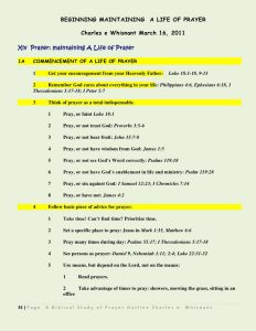 sermon outline template a biblical view of prayer series outline