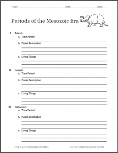 sermon outline template periods of the mesozoic blank outline chart
