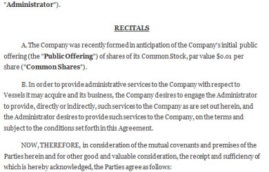 service agreement sample administrative services agreement