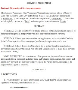 service agreement sample it service agreement template