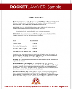 service agreement sample sample service agreement form template